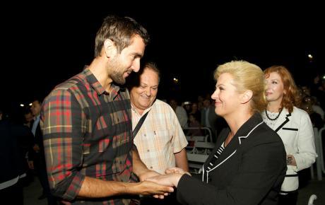 Buduća hrvatska predsjednica u Međugorju je osobno dočekala Marina Čilića
