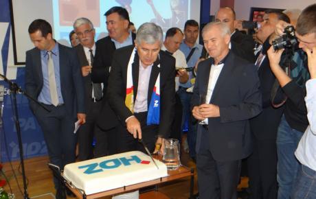 Proslava pobjede u sjedištu HDZ-a BiH