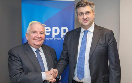 S Josephom Daulom, predsjednikom najjače političke grupacije Starog kontinenta