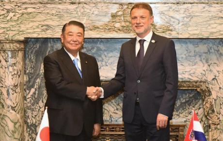 S predsjednikom Zastupničkog doma japanskog parlamenta Tadamorijem Oshimom